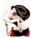 Cartoon: Amalia Rodrigues (small) by Carma tagged fado,amalia,rodrigues,musica