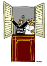 Cartoon: coming out (small) by Carma tagged pope vatican gay coming out