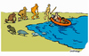 Cartoon: D - Evolution (small) by Carma tagged immigration,migrant,fluss,darwin