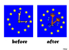 Cartoon: Time Change (small) by Carma tagged clock,time,change,eu,immigration