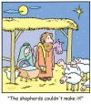 Cartoon: TP0200christmasjesusstable (small) by comicexpress tagged sable,jesus,chrismas,mary,joseph,shepherd,sheep,flock,appointment