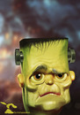 Cartoon: Frankensteins Monster (small) by Rüsselhase tagged frankenstein,halloween,monster