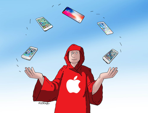 Cartoon: apple18 (medium) by kotrha tagged new,iphone,apple