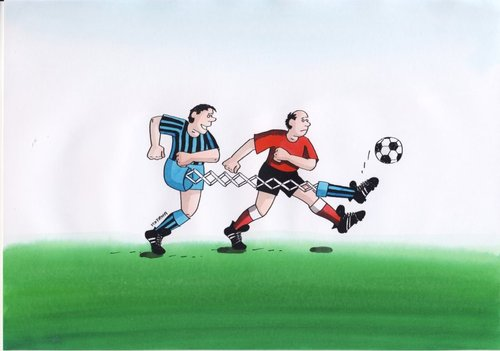 Cartoon: futbal5-1 (medium) by kotrha tagged humor