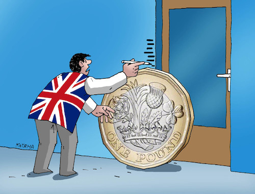 Cartoon: librapadanie (medium) by kotrha tagged libra,euro,dollar,brexit,britania,europe,world