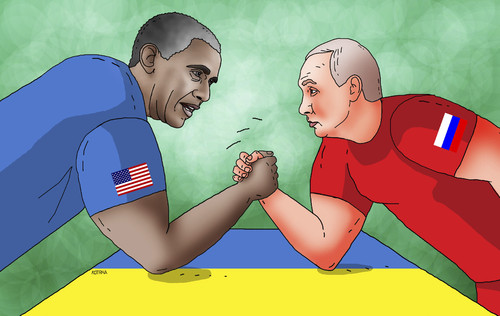 Cartoon: obaput (medium) by kotrha tagged peace,war,europe,usa,russia,putin,obama,nato,ukraine