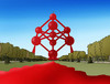 Cartoon: atomium (small) by kotrha tagged brussel,terror,atack