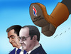 Cartoon: frontslap (small) by kotrha tagged france,vote,elections,marine,le,pen,national,hollande,sarkozy