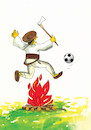 Cartoon: futzboj (small) by kotrha tagged sport,soccer,fire,jumper