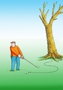 Cartoon: golfstrom (small) by kotrha tagged humor