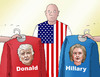 Cartoon: hilladonshirt (small) by kotrha tagged hillary,clinton,donald,trump,president,election,usa,dollar,world