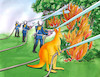 Cartoon: klohasic (small) by kotrha tagged australia,fires