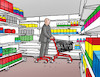 Cartoon: nakupovac (small) by kotrha tagged shopping,cart,in,the,shop