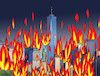 Cartoon: nyfire (small) by kotrha tagged usa,trump,protests