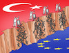 Cartoon: tursyp2 (small) by kotrha tagged turkey,syria,kurds,isis,usa,war,erdogan,assad,trump,putin