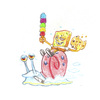 Cartoon: Munchie Sponge riding Gary (small) by Trippy Toons tagged spongebob,sponge,bob,squarepants,gary,snail,schnecke,schwammkopf,eyes,augen,bloodshot,cannabis,marihuana,marijuana,stoner,stoned,kiffer,kiffen,weed,ganja,smoke,smoking,rauch,rauchen,cookie,cookies,keks,ice,cream,eis,eiswaffel,munchies