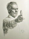 Cartoon: Clint Eastwood (small) by Jano tagged clint eastwood pencil drawing