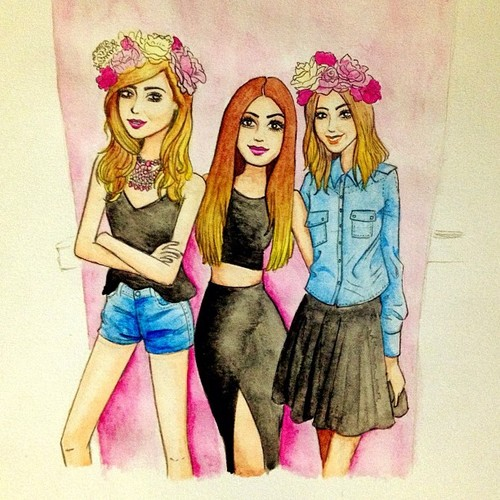 Cartoon: girls girls girls (medium) by naths tagged chiara,ferragni,blogger,blonde,salad,fashion,blondesalad,theblondesalad,girls