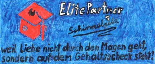 Cartoon: Elitäre Partnerwahl (medium) by Schimmelpelz-pilz tagged elitepartner,elite,partner,partnerbörse,partnerwahl,geld,gehalt,liebe,online,dating,onlinedating,single,singlebörse