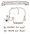 Cartoon: Jojo (small) by puvo tagged spider,spinne,elefant,elephant,jojo,pony,wunsch,wish,enttäuschung