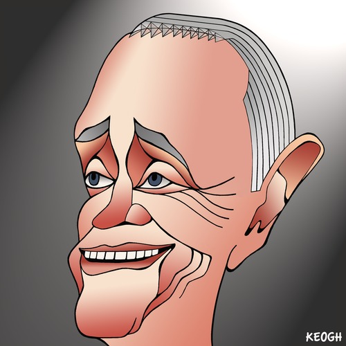 Cartoon: Malcolm Turnbull (medium) by KEOGH tagged politics,cartoons,keogh,australia,caricature,turnbull,malcolm,australian,politicians