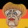 Cartoon: Angela Merkel (small) by KEOGH tagged angela,merkel,caricature,keogh,cartoons,chancellor,germany,politics,german,politicians