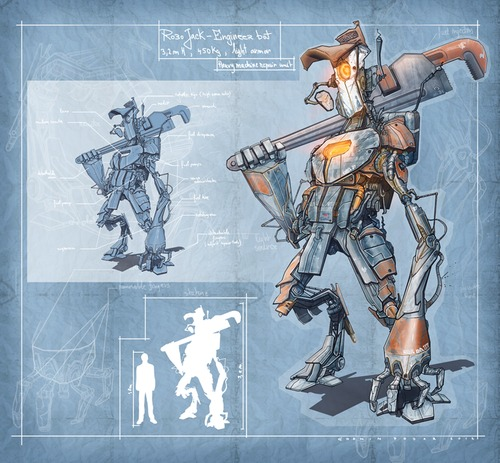 Cartoon: Jack Engineer Unit 37 (medium) by cosminpodar tagged drawing,illustration,robot,concept