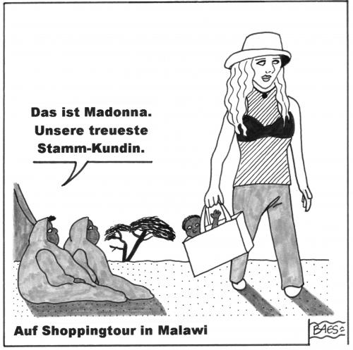 Cartoon: Auf Shoppingtour in Malawi (medium) by BAES tagged madonna,malawi,afrika,adoption