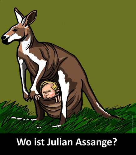 Cartoon: Wikileaks (medium) by perugino tagged julian,assange,wikileaks,julian assange,wikileaks,versteck,julian,assange