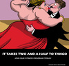 Cartoon: Tango (small) by perugino tagged gym fitness dance tango