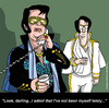 Cartoon: The Elvis syndrome (small) by perugino tagged love,romance,dating,relationships