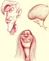 Cartoon: Airport Sketches (small) by doodleart tagged caricature,sketches