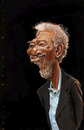 Cartoon: Morgan Freeman (small) by doodleart tagged morgan,freeman,actor,celebrity,movie,star