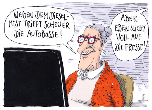 Cartoon: autobosse (medium) by Andreas Prüstel tagged dieselskandal,nachrüstungen,verkehrsminister,scheuer,autobosse,cartoon,karikatur,andreas,pruestel,dieselskandal,nachrüstungen,verkehrsminister,scheuer,autobosse,cartoon,karikatur,andreas,pruestel