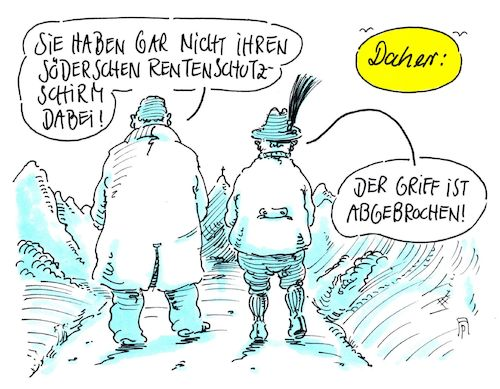 Cartoon: grundrentenversion (medium) by Andreas Prüstel tagged söder,csu,grundrente,rentenschutzschirm,cartoon,karikatur,andreas,pruestel,söder,csu,grundrente,rentenschutzschirm,cartoon,karikatur,andreas,pruestel
