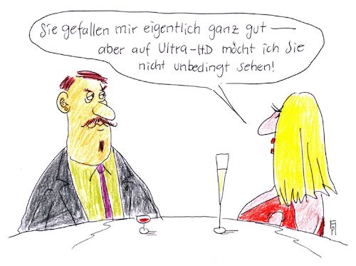 Cartoon: ultra-hd (medium) by Andreas Prüstel tagged date,bildqualität,tv,ultra,hd,cartoon,karikatur,andreas,pruestel,date,bildqualität,tv,ultra,hd,cartoon,karikatur,andreas,pruestel