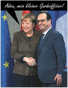 Cartoon: adieu (small) by Andreas Prüstel tagged merkel,hollande,deutschland,frankreich,cartoon,collage,andreas,pruestel
