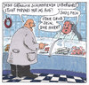 Cartoon: leberwurst (small) by Andreas Prüstel tagged metzgerei,fleischerei,wurst,leberwurst,kunde