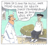 Cartoon: positiv (small) by Andreas Prüstel tagged todeskandidat,patient,arzt,steuererklärung