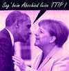 Cartoon: servus (small) by Andreas Prüstel tagged usa,deutschland,obama,merkel,ttip,abschied,hannover,cartoon,collage,andreas,pruestel