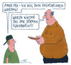 Cartoon: vegetarisch (small) by Andreas Prüstel tagged vegetarier,vegetarierin,vegetarisch,ernährung,wurst,opa,großvater,enkel,nachbarin,cartoon,karikatur,andreas,pruestel