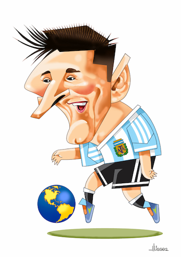 Cartoon: Messi (medium) by Ulisses-araujo tagged messi,russsia,2018
