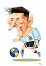 Cartoon: Messi (small) by Ulisses-araujo tagged messi,russsia,2018