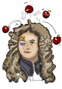 Cartoon: Isaac Newton (small) by melekdurmus tagged isaacnewton,melekdurmus,cartoon,karikatür,drawing,cartoonist