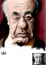 Cartoon: Eugen Ionescu (small) by handren khoshnaw tagged handren,khoshnaw,eugen,ionescu,romania