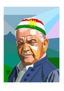 Cartoon: Hameed Bedirxan (small) by handren khoshnaw tagged handren,khoshnaw