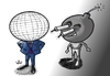 Cartoon: How the terrorist sees the world (small) by handren khoshnaw tagged handren khoshnaw