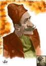 Cartoon: Ion Luca Caragiale (small) by handren khoshnaw tagged handren khoshnaw ion luca caragiale romania caricature