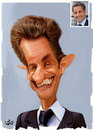 Cartoon: Nicolas Sarkozy (small) by handren khoshnaw tagged handren khoshnaw