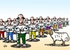 Cartoon: One sheep and so many shepherd (small) by handren khoshnaw tagged handren khoshnaw